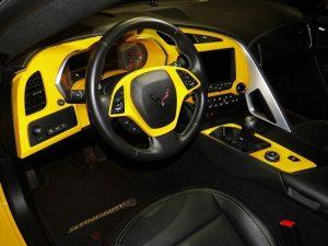 Velocity Yellow C7 Interior