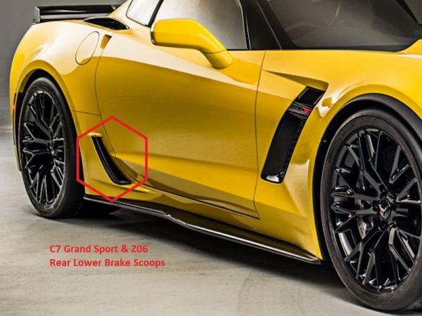 C7 Z06 & GS Rear Lower Brake Scoops